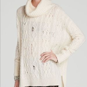 Free People Distressed Oversized Slouchy Sweater!